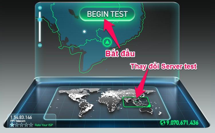 Công cụ kiểm tra tốc độ mạng internet